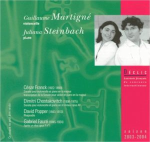 CD Guillaume Martigné / Juliana Steinbach – Violoncelle / Piano