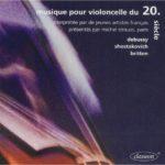 CD musique-pour-violoncelle-du-20e